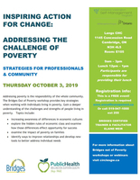 Bridges Out of Poverty- Langs CHC- October 3, 2019